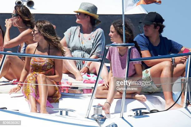 Mar Torres Felipe Juan Froilan de Marichalar y Borbon and sister Victoria Federica de Marichalar y Borbon are seen during the 36th Copa Del Rey Mafre...