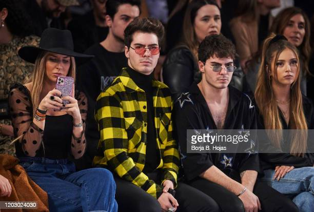 Mar Torres Gemeliers and Ana Mena attends Custo Barcelona fashion show during the Merecedes Benz Fashion Week Autum/Winter 202021 at Ifema on January...