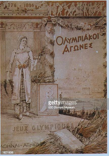 Picture on the cover page of the official report of the 1896 Olympic Games in Athens Greece Mandatory Credit IOC/Olympic Museum /Allsport