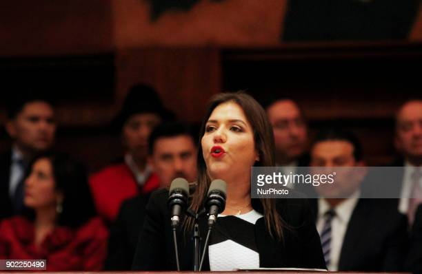 María Alejandra Vicuña in her first speech after being installed in the National Assembly with 70 votes in favor of 106 assembly members present as...