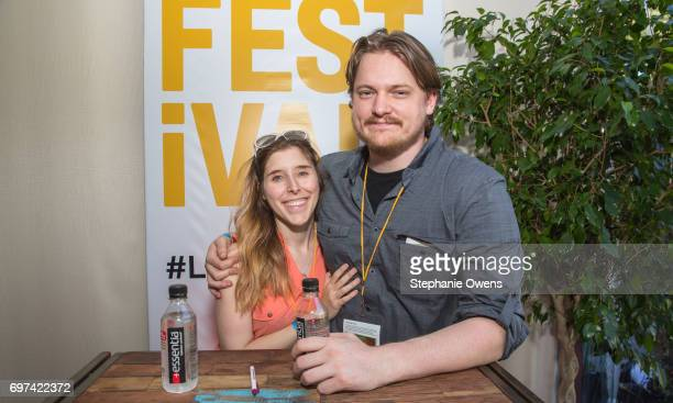 Mara Barr and Sam Patton attend the Women Filmmakers Event during 2017 Los Angeles Film Festival at Festival Lounge on June 16 2017 in Culver City...