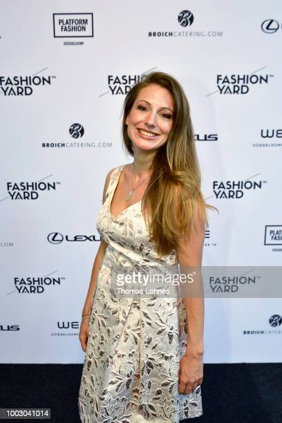 Anita von Emt and guest attend the Fashionyard show during Platform Fashion July 2018 at Areal Boehler on July 21 2018 in Duesseldorf Germany
