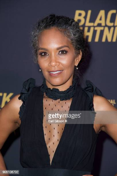 Mara Brock Akil executive producer attends the 'Black Lightning' World Premiere at National Museum Of African American History Culture on January 13...