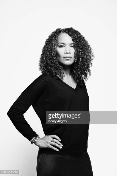 Mara Brock Akil is photographed for The Hollywood Reporter on October 28 2017 in Los Angeles California