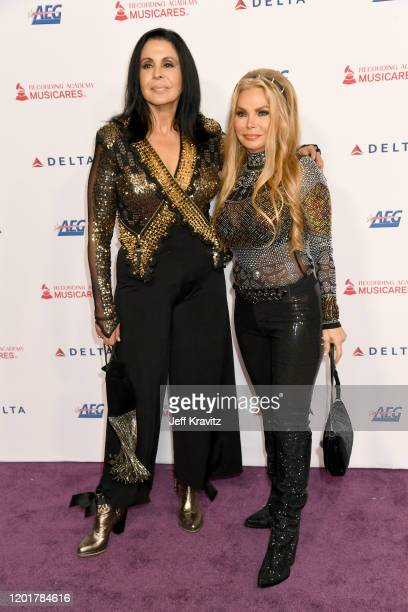 María Conchita Alonso and Suzan Hughes attend MusiCares Person of the Year honoring Aerosmith at West Hall at Los Angeles Convention Center on...
