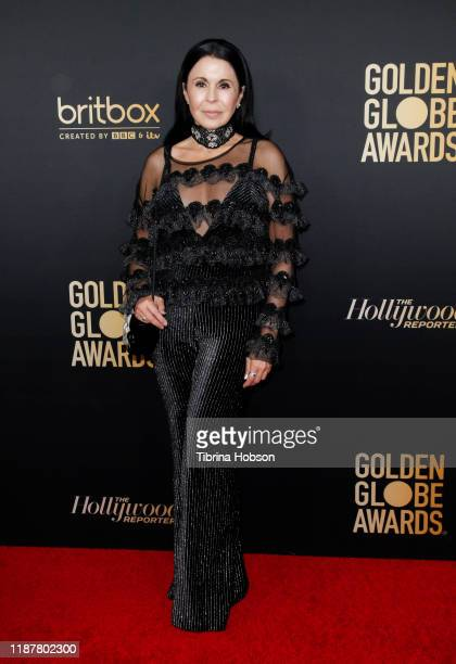 María Conchita Alonso attends the HFPA and THR Golden Globe Ambassador Party at Catch LA on November 14 2019 in West Hollywood California