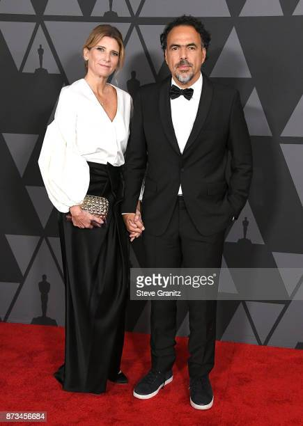 Mara Eladia Hagerman Alejandro Gonzalez Iarritu arrives at the Academy Of Motion Picture Arts And Sciences' 9th Annual Governors Awards at The Ray...