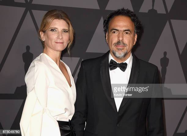 María Eladia Hagerman and Alejandro González Iñárritu attend the Academy of Motion Picture Arts and Sciences' 9th Annual Governors Awards at The Ray...