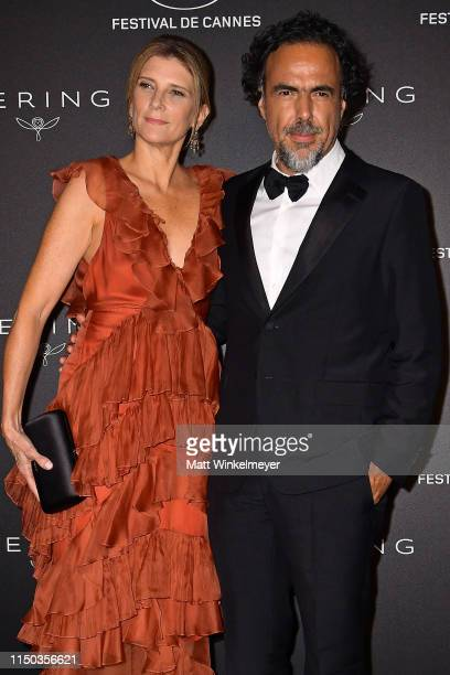 María Eladia Hagerman and Alejandro González Iñárritu attend the Kering Women In Motion Awards during the 72nd annual Cannes Film Festival on May 19...