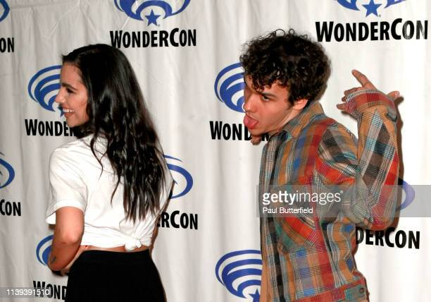 María Gabriela de Faría and Benjamin Wadsworth attends the 'Deadly Class' press line during WonderCon 2019 at Anaheim Convention Center on March 30...