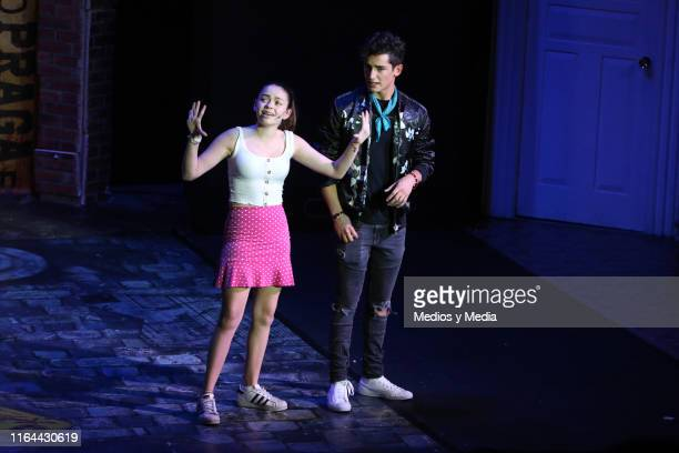 María José Mariscal and Emilio Osorio perform during the 'Aristemo' Musical on July 26 2019 in Mexico City Mexico