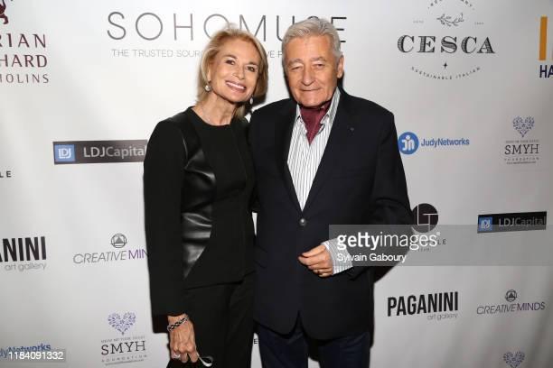 Mara Khodara and Hugues Sirven Vienot attend PAGANINI HONORS PAGANINI A Tribute To Niccolo Paganini By Maria Elena Paganini on October 28 2019 in New...