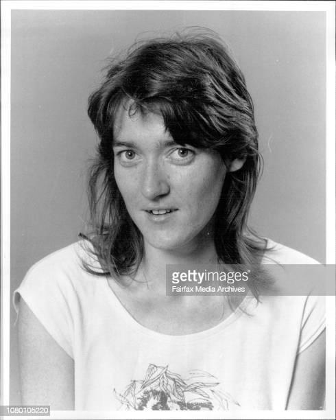 Mara Kiek, lead singer with the folk group Tansy's Fancy. January 23, 1984. .