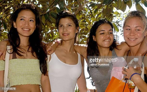 Mara Lane, Natassia Malthe, Michelle Rodriguez and Sanoe Lake