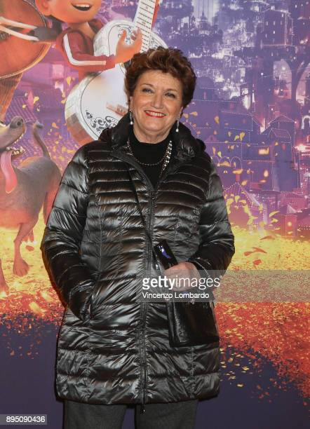 Mara Maionchi attends a photocall for 'Coco' on December 18 2017 in Milan Italy