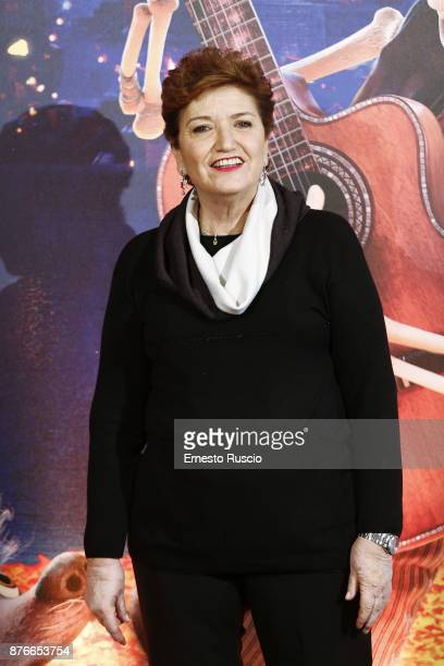 Mara Maionchi attends 'Coco' photocall at Hotel De Russie on November 20 2017 in Rome Italy