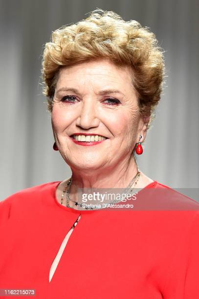 Mara Maionchi attends the Aniye By fashion show at Tenoha Milano on July 15 2019 in Milan Italy