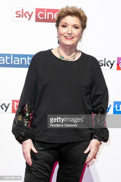 Mara Maionchi attends the Sky Show Schedule Presentation at Palazzo Del Ghiaccio on October 29 2018 in Milan Italy