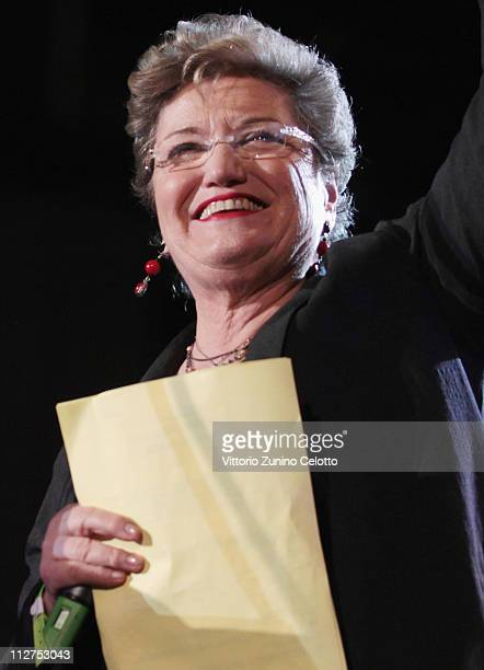 Mara Maionchi attends the TRL Awards 2011 on April 20 2011 in Florence Italy