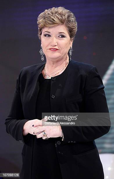 Mara Maionchi attends the X Factor Italian TV Show Final Press Conference on November 23 2010 in Milan Italy