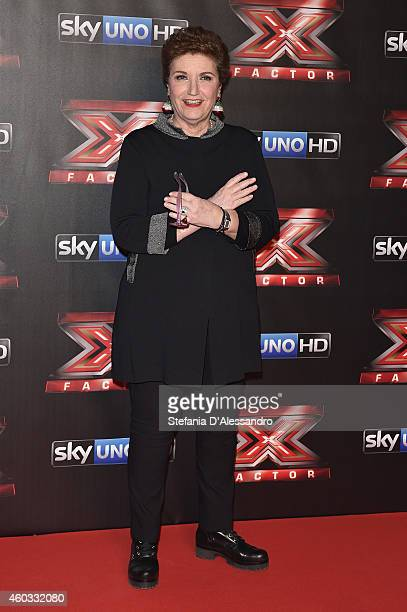 Mara Maionchi attends the X Factor TV Show Final on December 11 2014 in Milan Italy