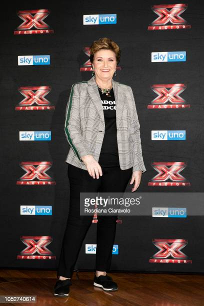 Mara Maionchi attends X Factor 2018 photocall at Teatro Linear Ciak on October 22 2018 in Milan Italy