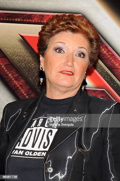 Mara Maionchi attends X factor Italian tv show press conference on January 09 2009 in Milan Italy