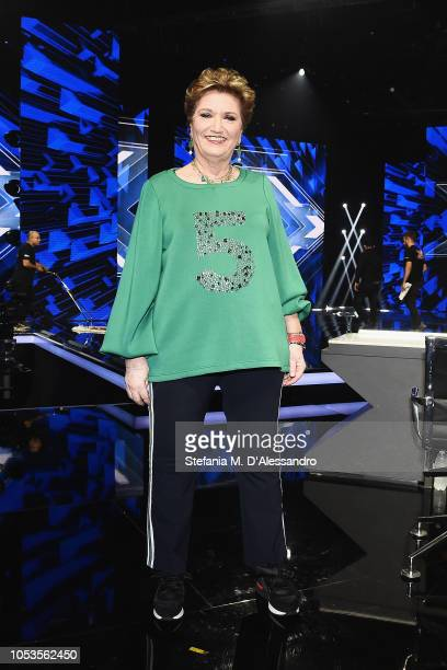 Mara Maionchi attends X Factor tv show at Teatro Linear Ciak on October 25 2018 in Milan Italy