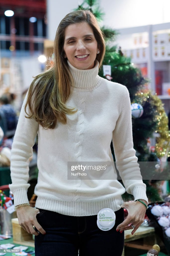 María Margarita Vargas attends the Nuevo Futuro market, from November 18 to 26 in the Glass Pavilion of the Casa de Campo in Madrid. Spain. November 19, 2017