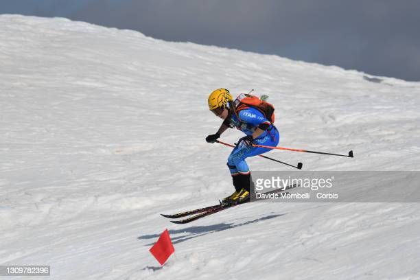 Mara Martini during Ski Mountaineering individual World Cup Finals on March 28, 2021 in Madonna Di Campiglio, Italy.