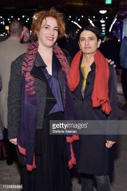 Mara McCarthy and Rachel Khedoori attend Hauser Wirth Los Angeles Opening of Annie Leibovitz and Piero Manzoni and Musical Performance by Patti Smith...