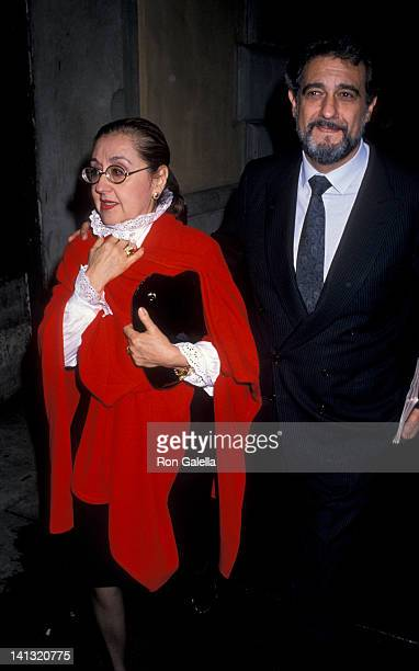 Mara Ornelas and Placido Domingo at the Opening Night of 'City of Angels' Virginia Theater New York City