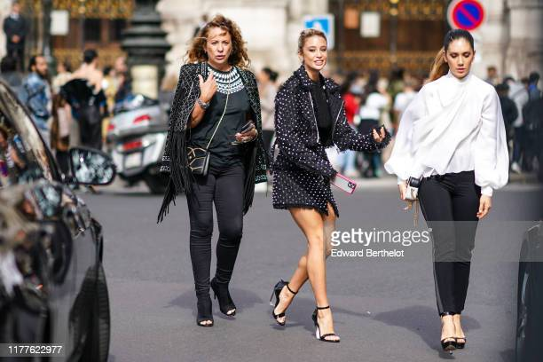 María Pedraza is seen outside Balmain during Paris Fashion Week Womenswear Spring Summer 2020 on September 27 2019 in Paris France