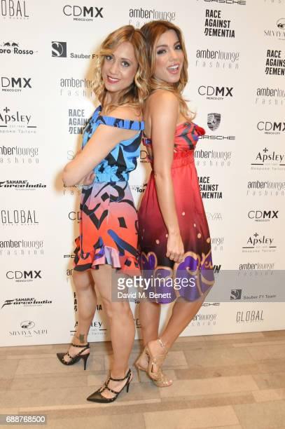 Mara Sangiorgio and Federica Masolin attend the Amber Lounge Fashion Monaco 2017 at Le Meridien Beach Plaza Hotel on May 26 2017 in Monaco Monaco