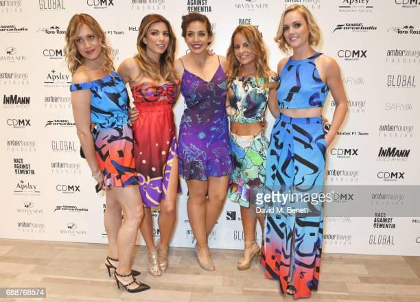 Mara Sangiorgio Federica Masolin Giselle Zarur Claudia Casademunt Blanes and Amanda Davies attend the Amber Lounge Fashion Monaco 2017 at Le Meridien...