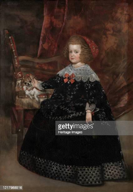 María Teresa Infanta of Spain circa 1645 Isabel de Borbon portrayed by Mazo when she was seven years old Artist Juan Battista Martinez del Mazo