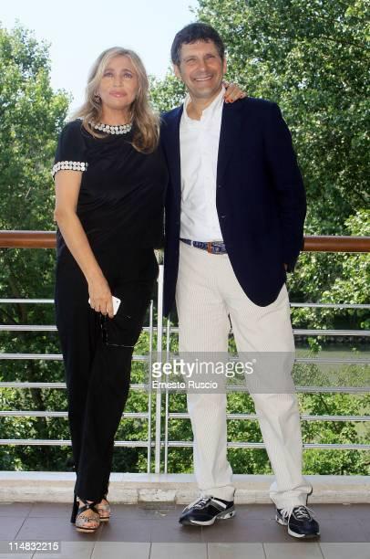 Mara Venier and Fabrizio Frizzi attend the La Partita del Cuore 2011 press Conference at Circolo Sportivo RAI on May 27 2011 in Rome Italy
