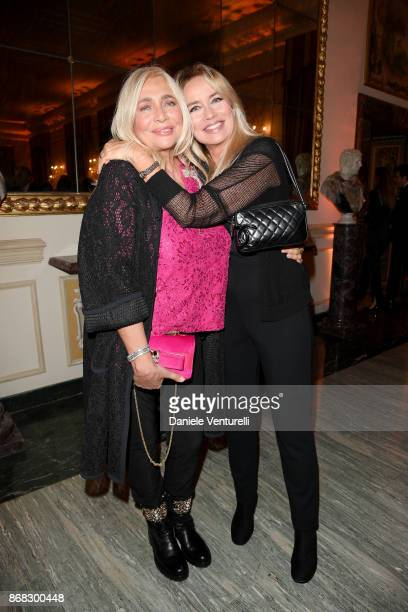 Mara Venier and Gloria Guida attend Telethon Gala during the 12th Rome Film Fest at Villa Miani on October 30 2017 in Rome Italy