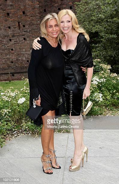 Mara Venier and Lorella Cuccarini attend the RAI Autumn / Winter 2010 TV Schedule held at Castello Sforzesco on June 15 2010 in Milan Italy