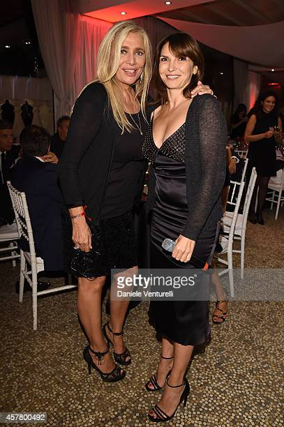 Mara Venier and Maria Pia Calzone attend the Gala Dinner 'La Grande Bellezza' during the 9th Rome Film Festival on October 24 2014 in Rome Italy