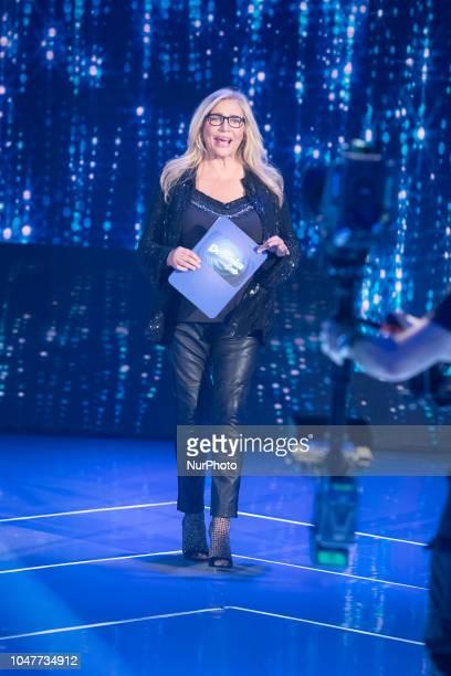Mara Venier attend 'Domenica In' TV show at the Studio RAI Fabrizio Frizzi in Rome Italy on October 7 2018
