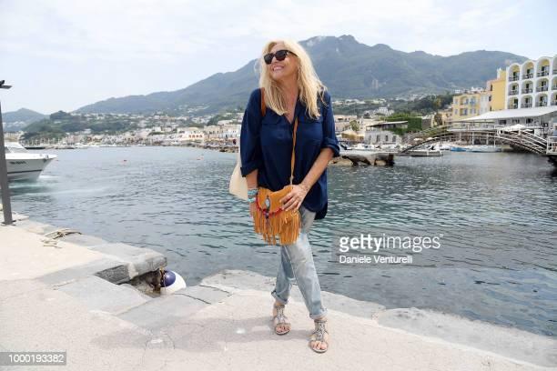 Mara Venier attends 2018 Ischia Global Film Music Fest on July 16 2018 in Ischia Italy