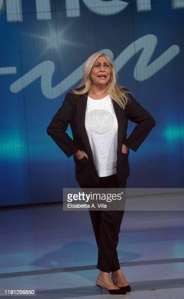 """Mara Venier attends """"Domenica In"""" Tv Show at Rai Studios on December 01 2019 in Rome Italy"""
