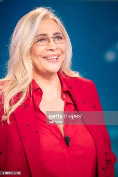 Mara Venier attends ''Domenica In'' Tv Show at Rai Studios on December 15 2019 in Rome Italy