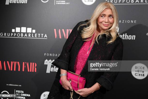 Mara Venier attends Telethon Gala during the 12th Rome Film Fest at Villa Miani on October 30 2017 in Rome Italy