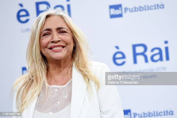 Mara Venier attends the Rai Show Schedule presentation on July 09 2019 in Milan Italy