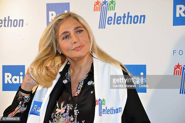 Mara Venier attends the 'Telethon' Press Conference on December 1 2016 in Rome Italy