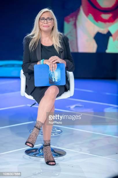 Mara Venier in Domenica In TV show in Rome Italy on September 16 2018