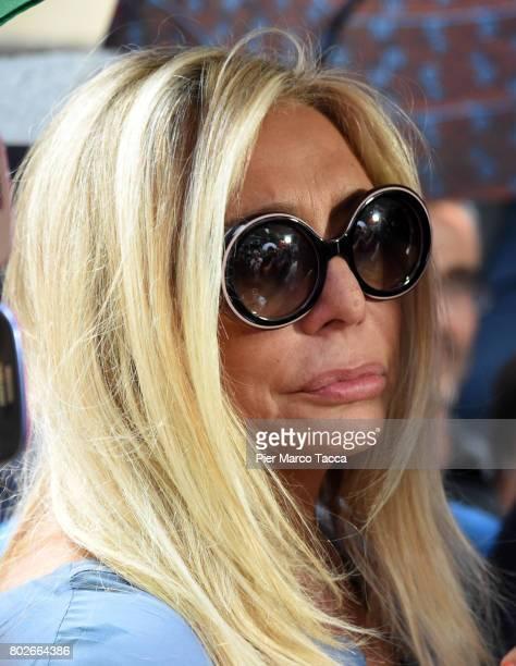 Mara Venier leaves Paolo Limiti funeral services at the church of Santa Maria Goretti on June 28 2017 in Milan Italy Paolo Limiti was born in Milan...