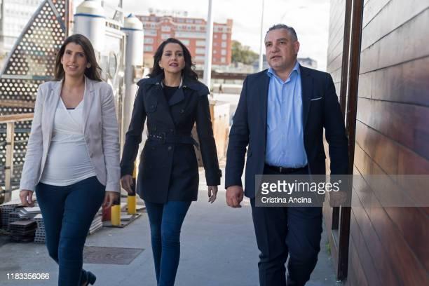 María Vilas Galician deputy of Ciudadanos to the Congress of Deputies andInés Arrimadas the spokeswoman of Ciudadanos in the Congress of Deputies...